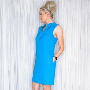 crown & ivy Dresses - Crown and Ivy Blue Work Sundress